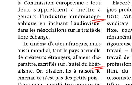 Le Journal tactile du quotidien Le Monde - césures et justifications râtées